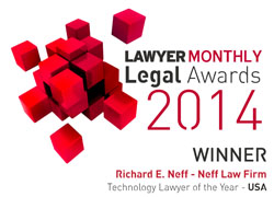 Neff Law Firm Lawyer Monthly Legal Awards 2014 winner